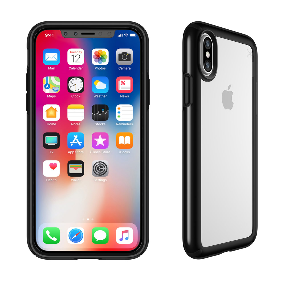 Wholesale cell phone accessory APPLE IPHONE X SPECK PRODUCTS PRESIDIO SHOW CASE - CLEAR AND