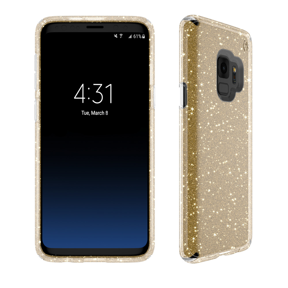 Wholesale cell phone accessory Speck - Presidio Clear + Glitter Case for Samsung Galaxy S9 -