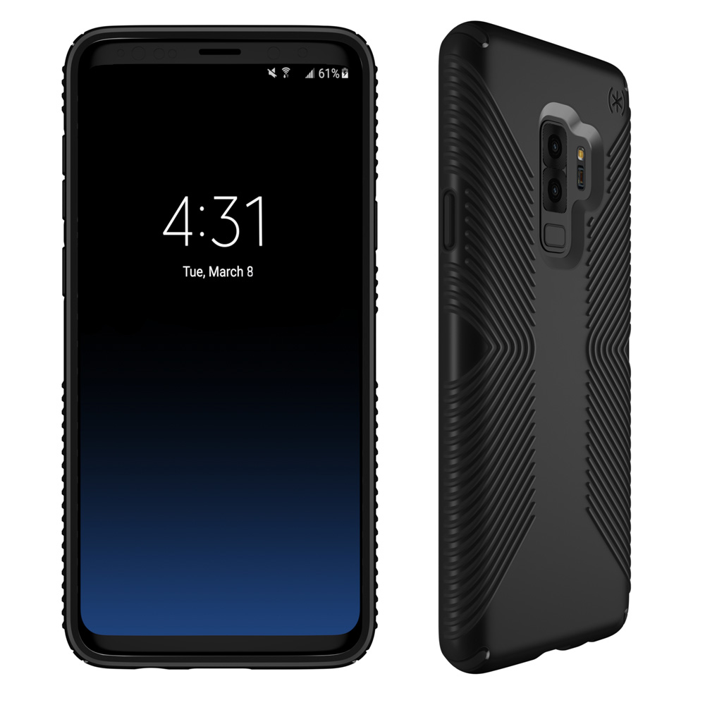 Wholesale cell phone accessory Speck - Presidio Grip Case for Samsung Galaxy S9 Plus - Black