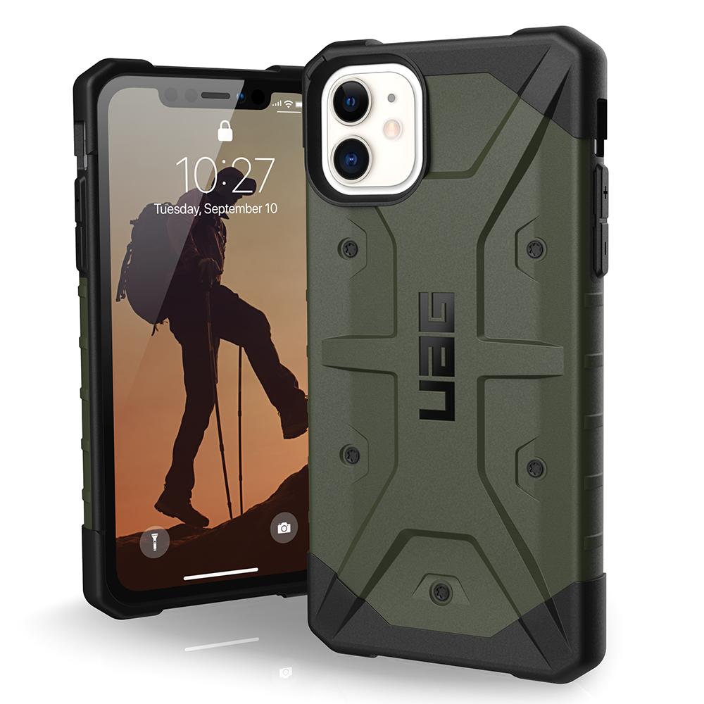 Urban Armor Gear (UAG) - Pathfinder Case for Apple iPhone 11 - Olive Drab