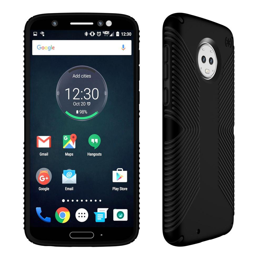 Wholesale cell phone accessory Speck - Presidio Grip Case for Motorola Moto G6 - Black