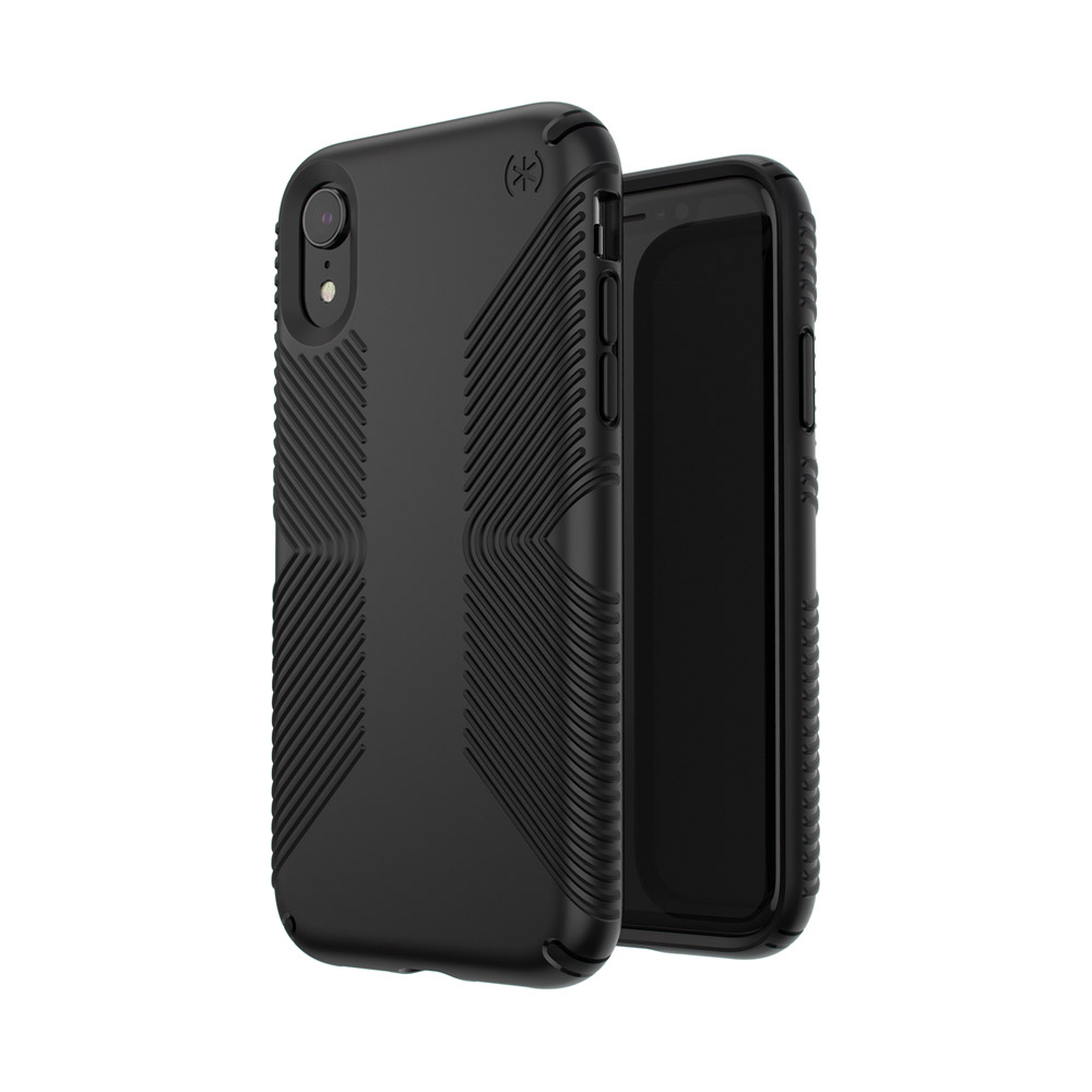 Wholesale cell phone accessory Speck - Presidio Grip Case for Apple iPhone XR - Black