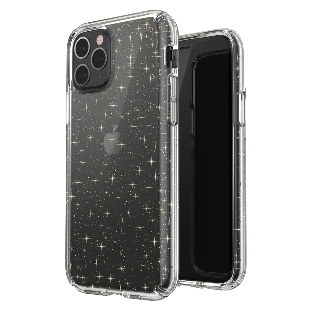 Speck - Presidio Clear for Apple iPhone 11 Pro - Gold Glitter