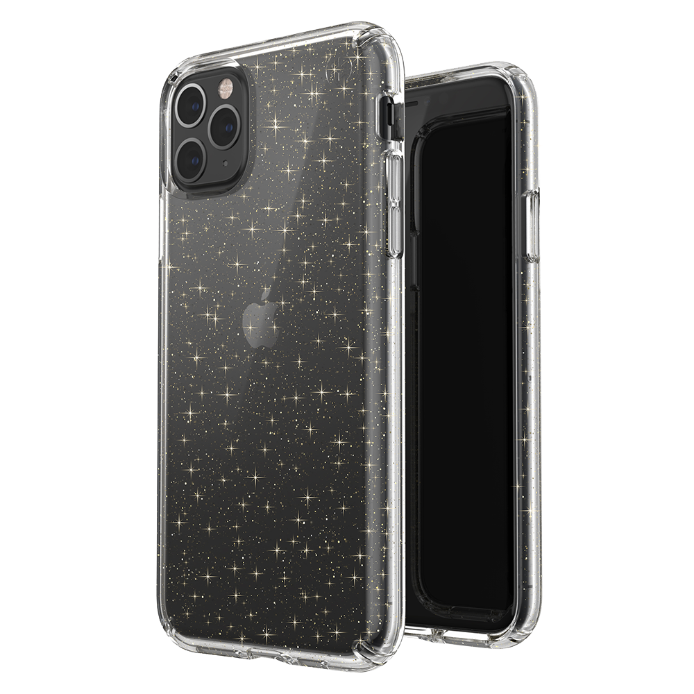 Wholesale cell phone accessory Speck - Presidio Clear for Apple iPhone 11 Pro Max - Gold Glitter