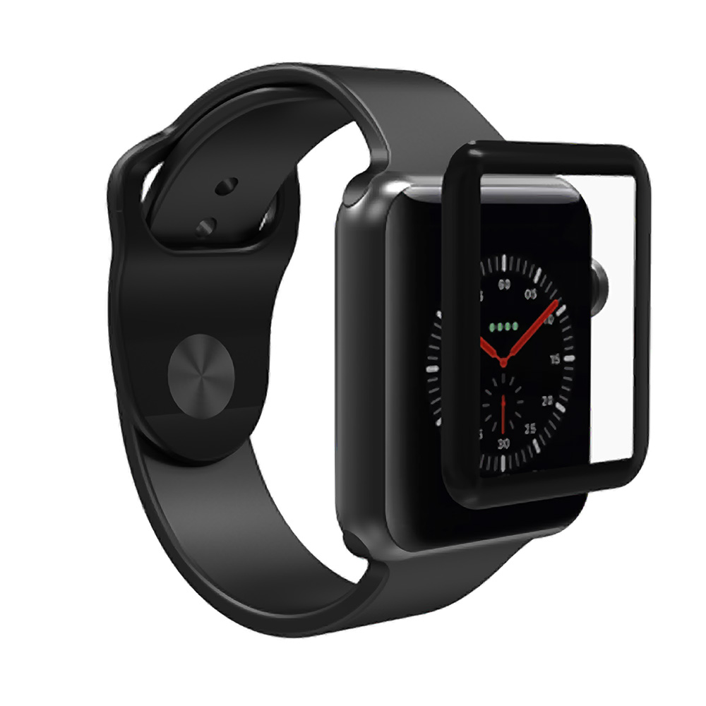 ZAGG - Invisibleshield Glass Curve Elite Full Adhesive Glass Screen Protector For Apple Watch 38Mm - Clear