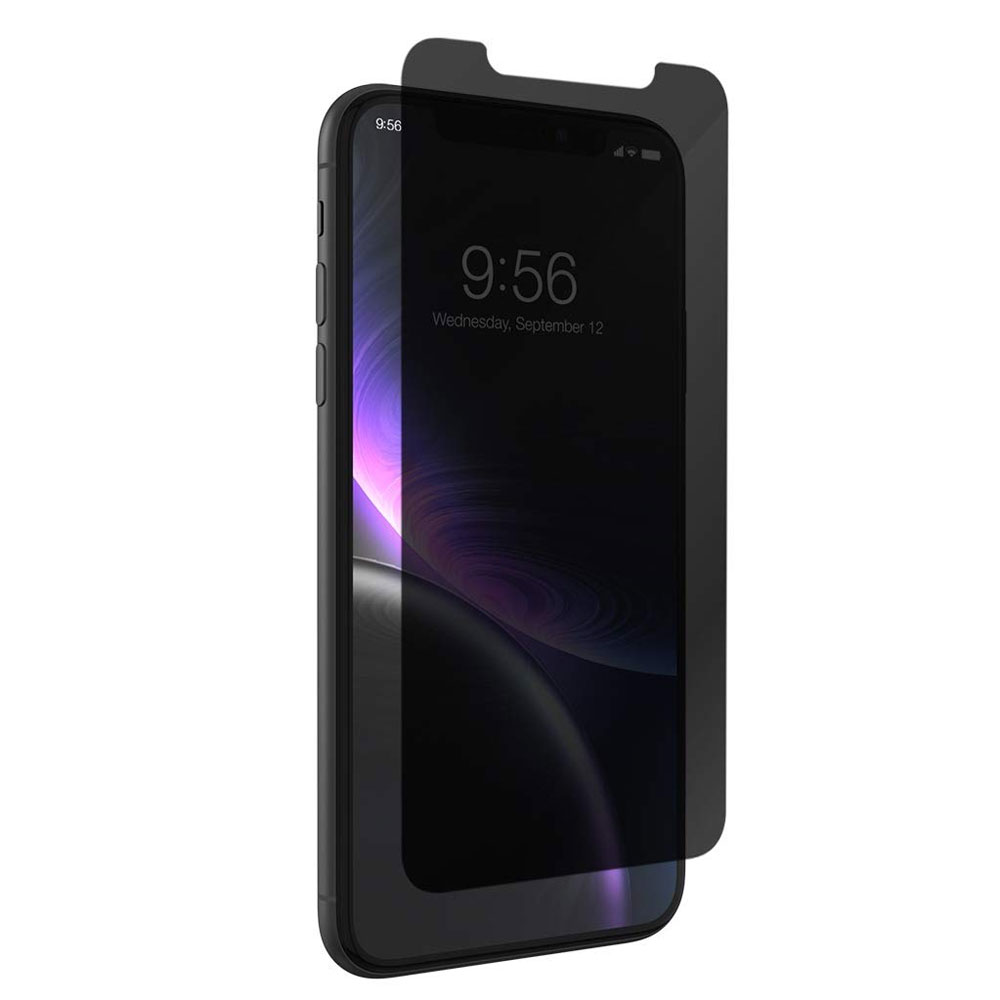 ZAGG - InvisibleShield Glass Plus Glass Screen Protector for Apple iPhone XR - Privacy