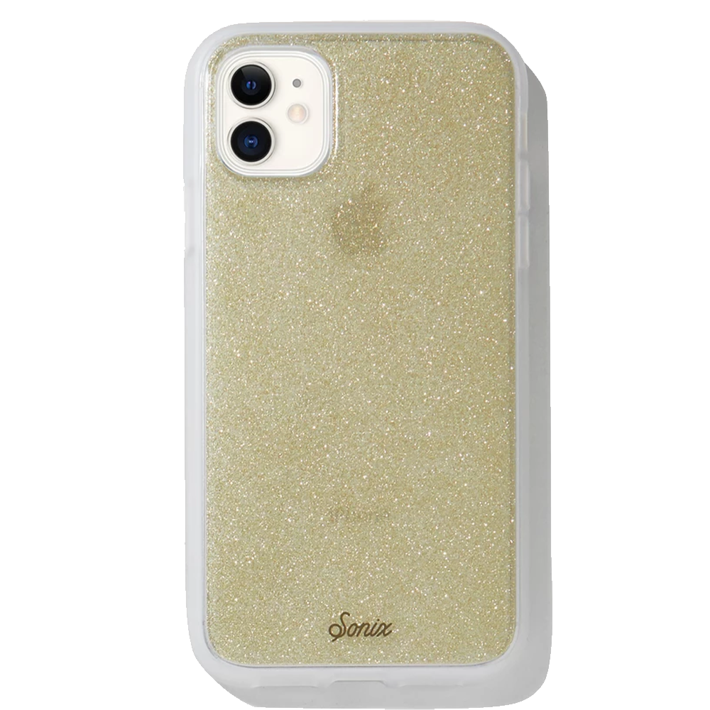 Sonix - Clear Coat Case for Apple iPhone 11 - Gold Glitter