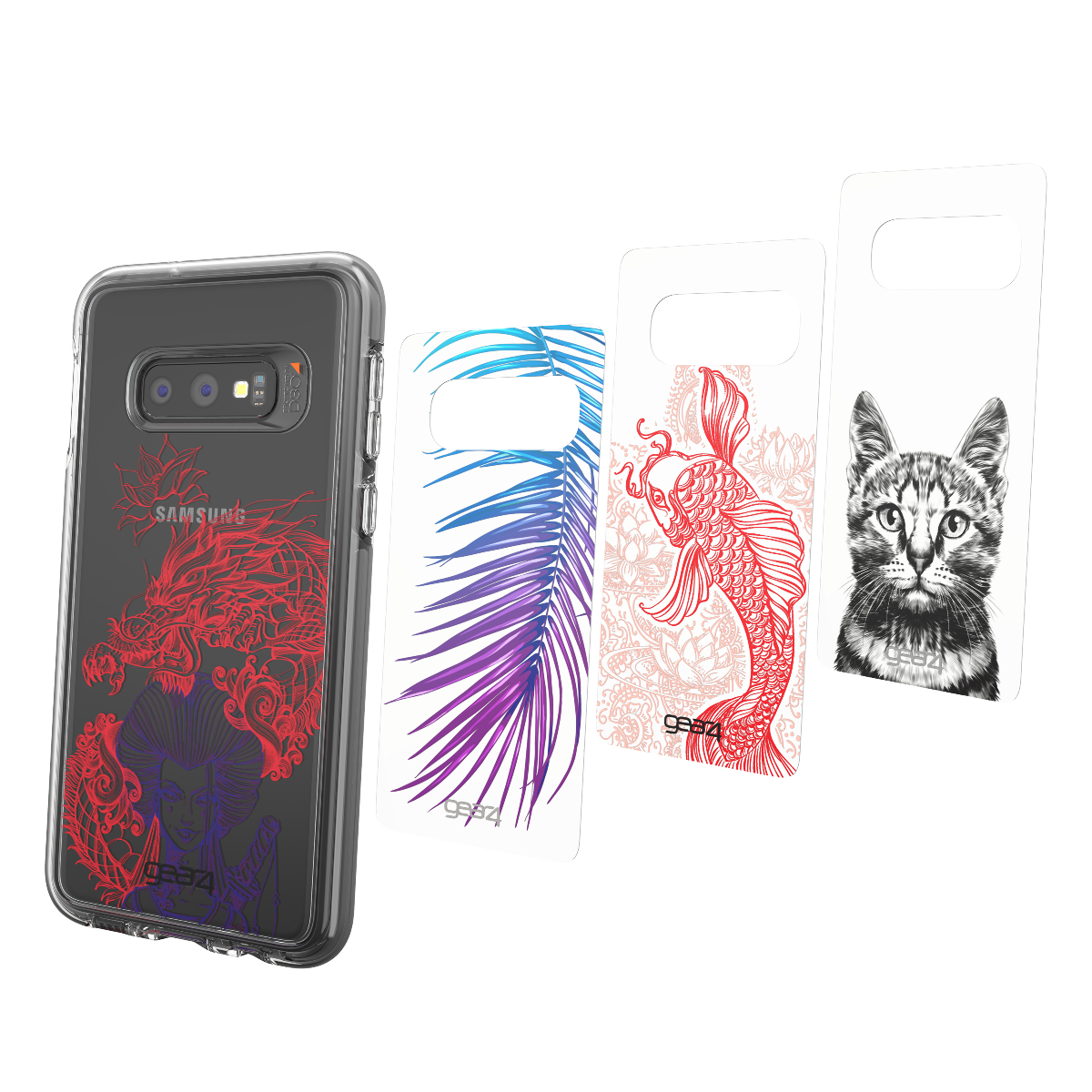 Wholesale cell phone accessory Gear4 - Chelsea Backplate 4 Pack for Samsung Galaxy S10e - Alpha