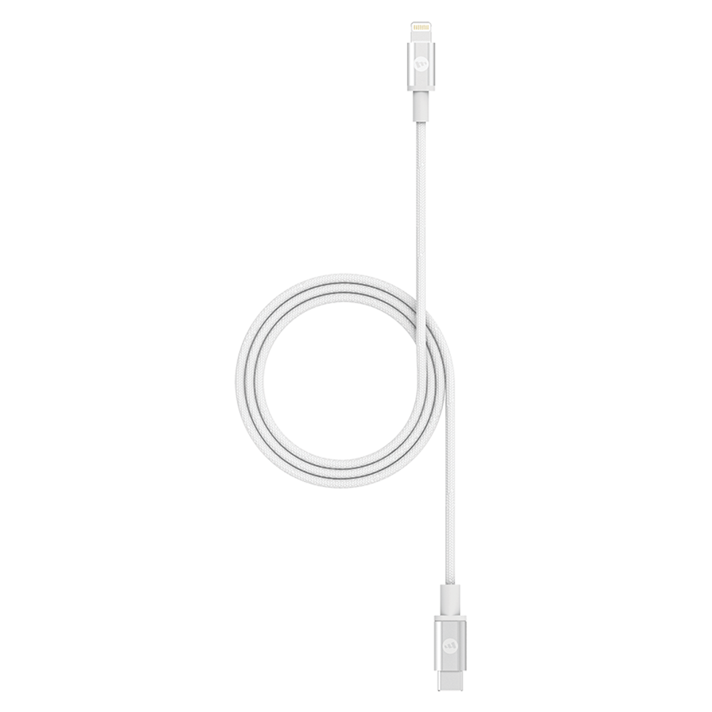mophie - Type C to Apple Lightning Cable 6ft - White