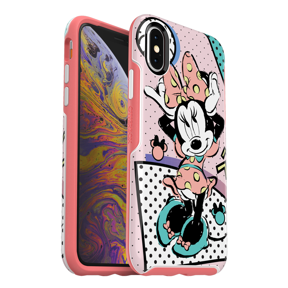 OtterBox - Symmetry Totally Disney Case for Apple iPhone Xs  /  X -  Rad Minnie
