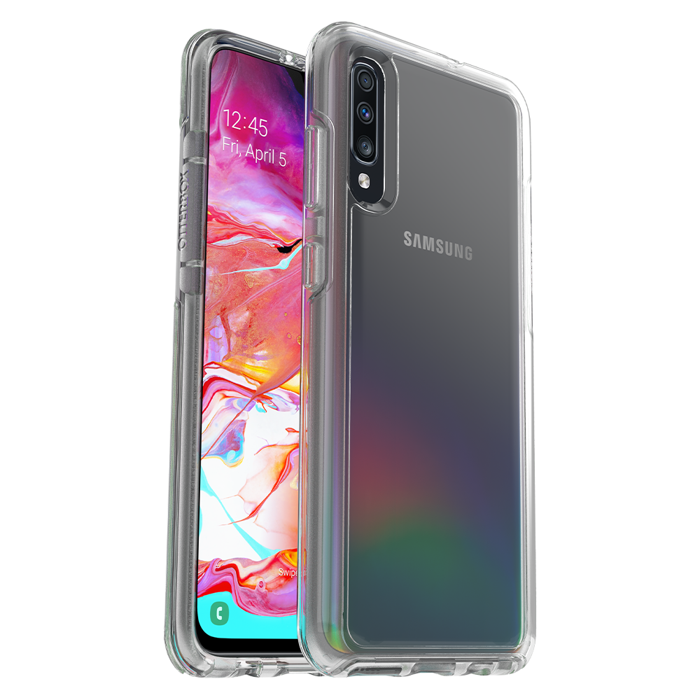 OtterBox - Symmetry Clear Case for Samsung Galaxy A70 - Clear