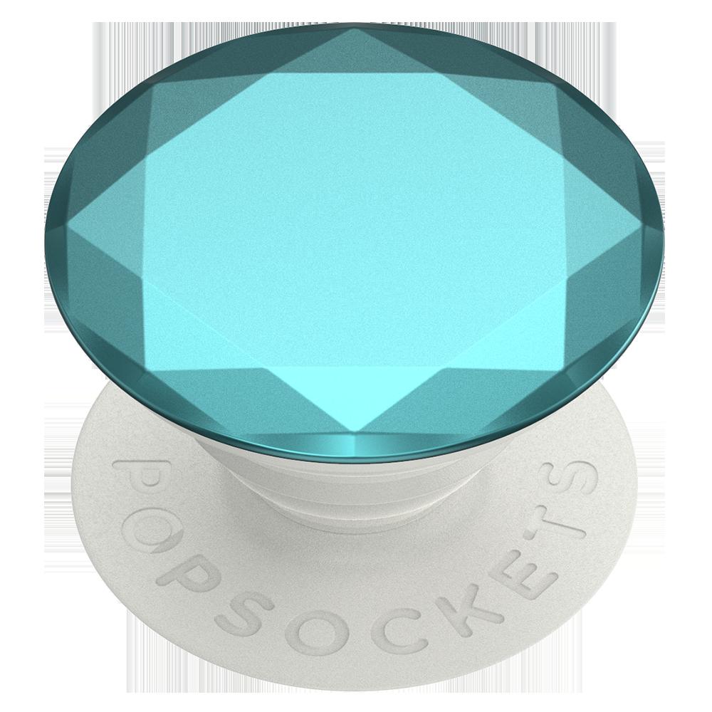 Wholesale cell phone accessory PopSockets - PopGrip Premium - Metallic Diamond Aquarius Blue