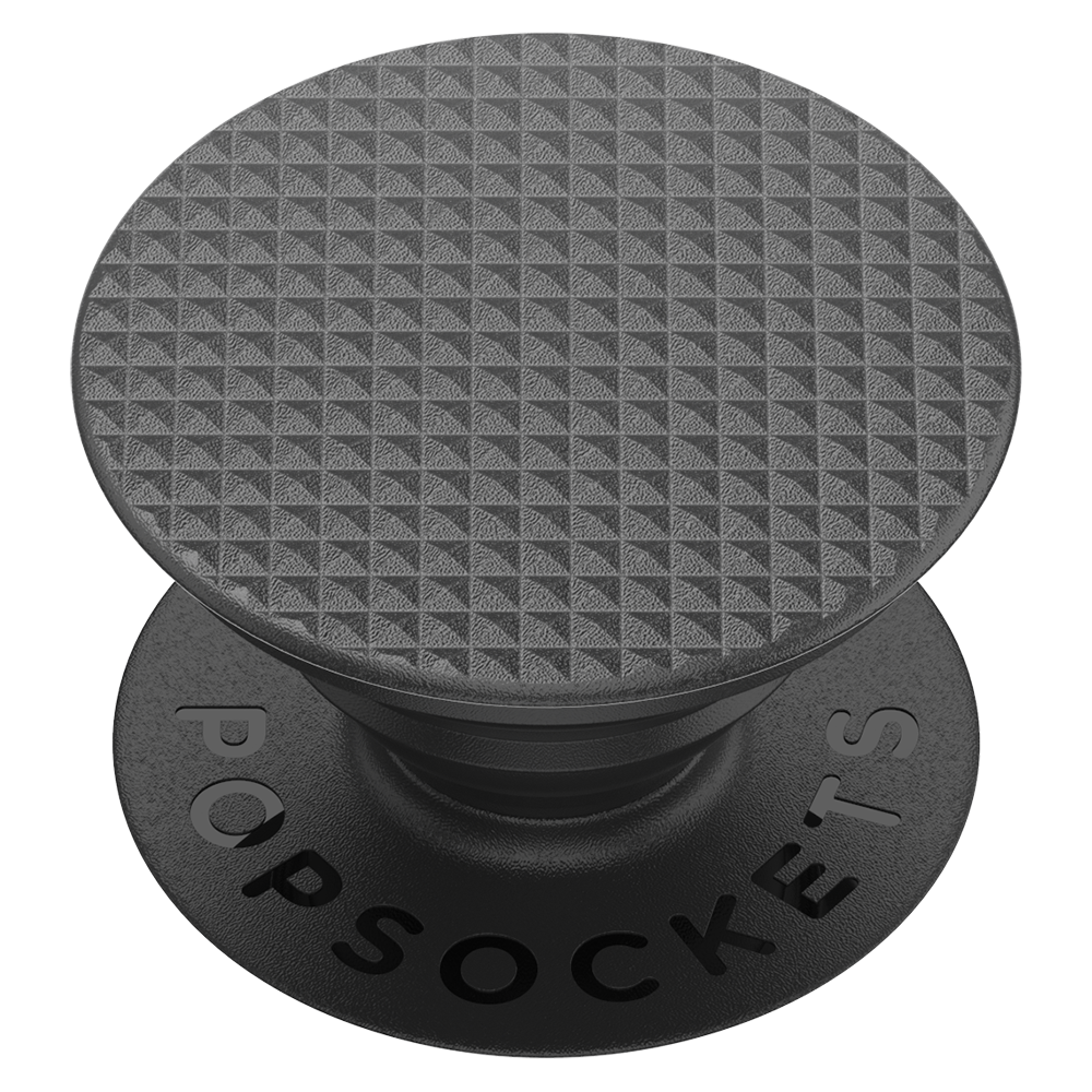 PopSockets - PopGrip Swappable Abstract Device Stand and Grip - Knurled Texture Black