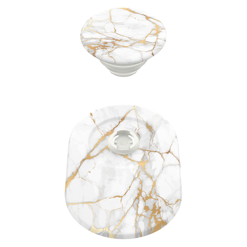 Wholesale cell phone accessory PopSockets - PopGrip for Apple MagSafe - Gold Lutz Marble