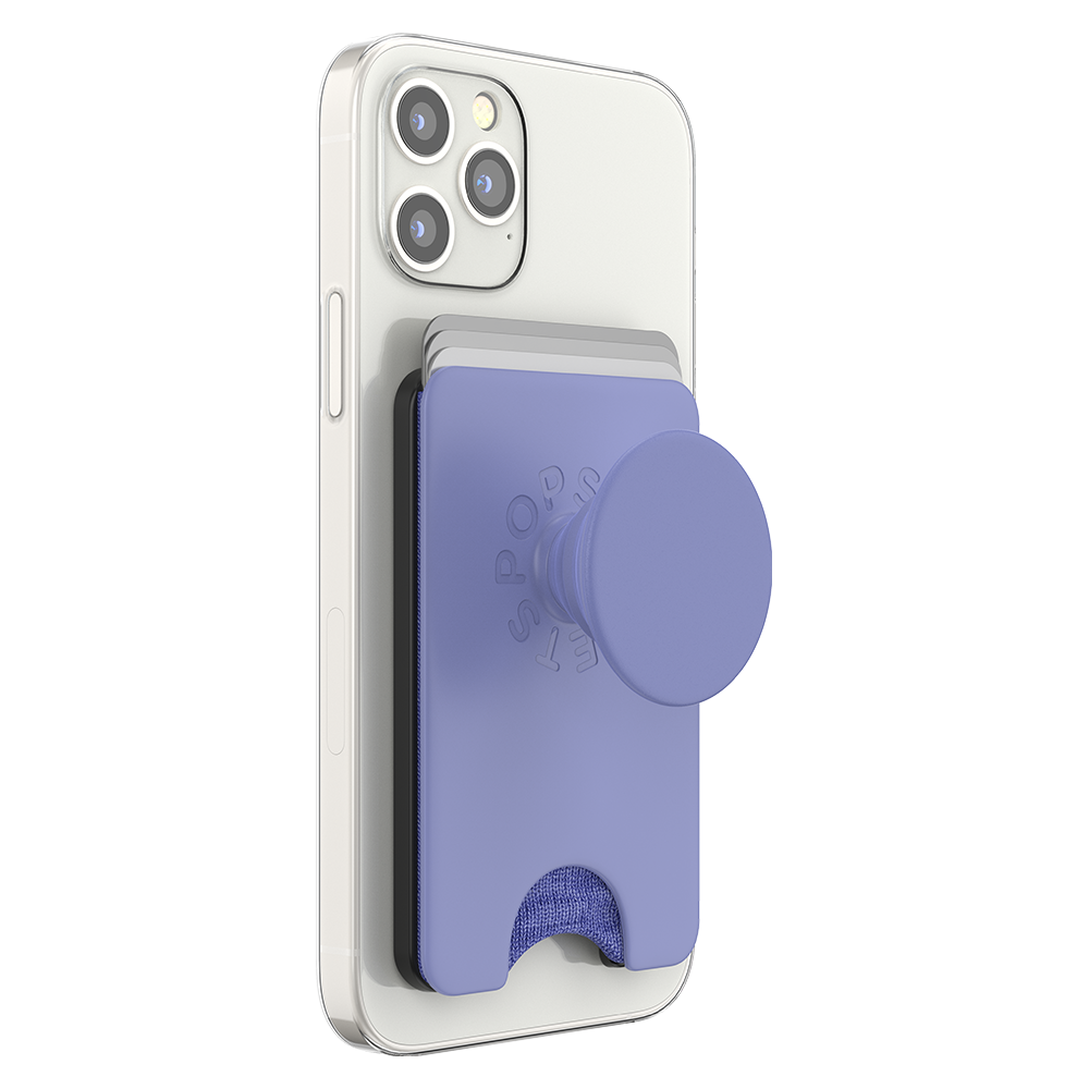 Wholesale cell phone accessory PopSockets - PopWallet Plus for Apple MagSafe - Deep Periwinkle