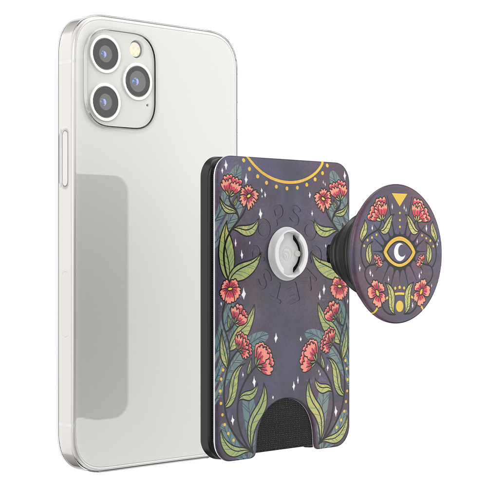 Wholesale cell phone accessory PopSockets - PopWallet Plus for Apple MagSafe - Floral Bohemian