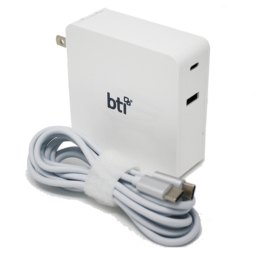 BTI - AC Adapter 87W for USB Type C Laptops - Not Retail Packaged - White