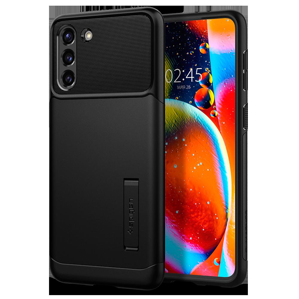 Wholesale cell phone accessory Spigen - Slim Armor Case for Samsung Galaxy S21 5G - Black