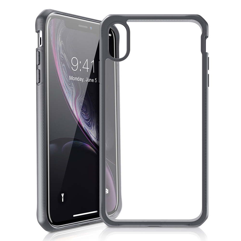 Wholesale cell phone accessory ITSKINS - Hybrid Frost MKII Case for Apple iPhone XR - Black