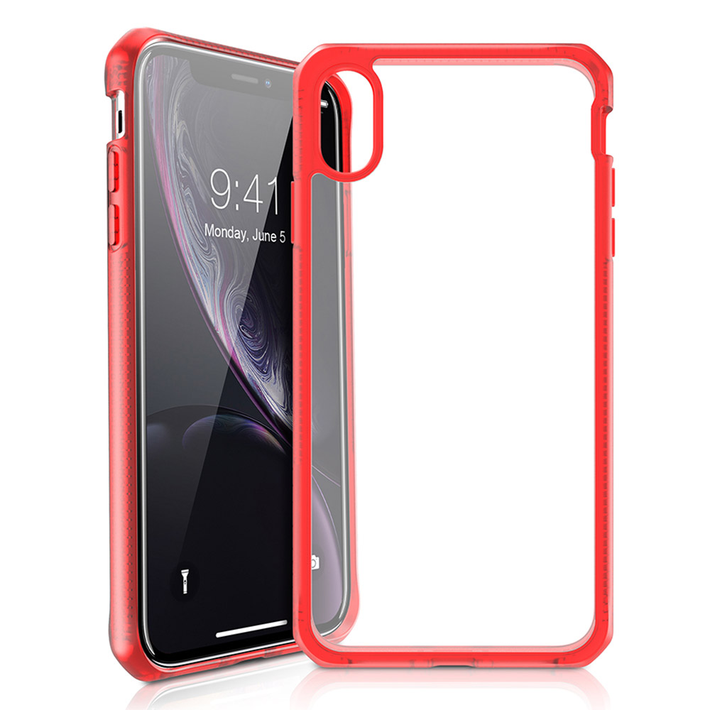 Wholesale cell phone accessory ITSKINS - Hybrid Frost MKII Case for Apple iPhone XR - Red and