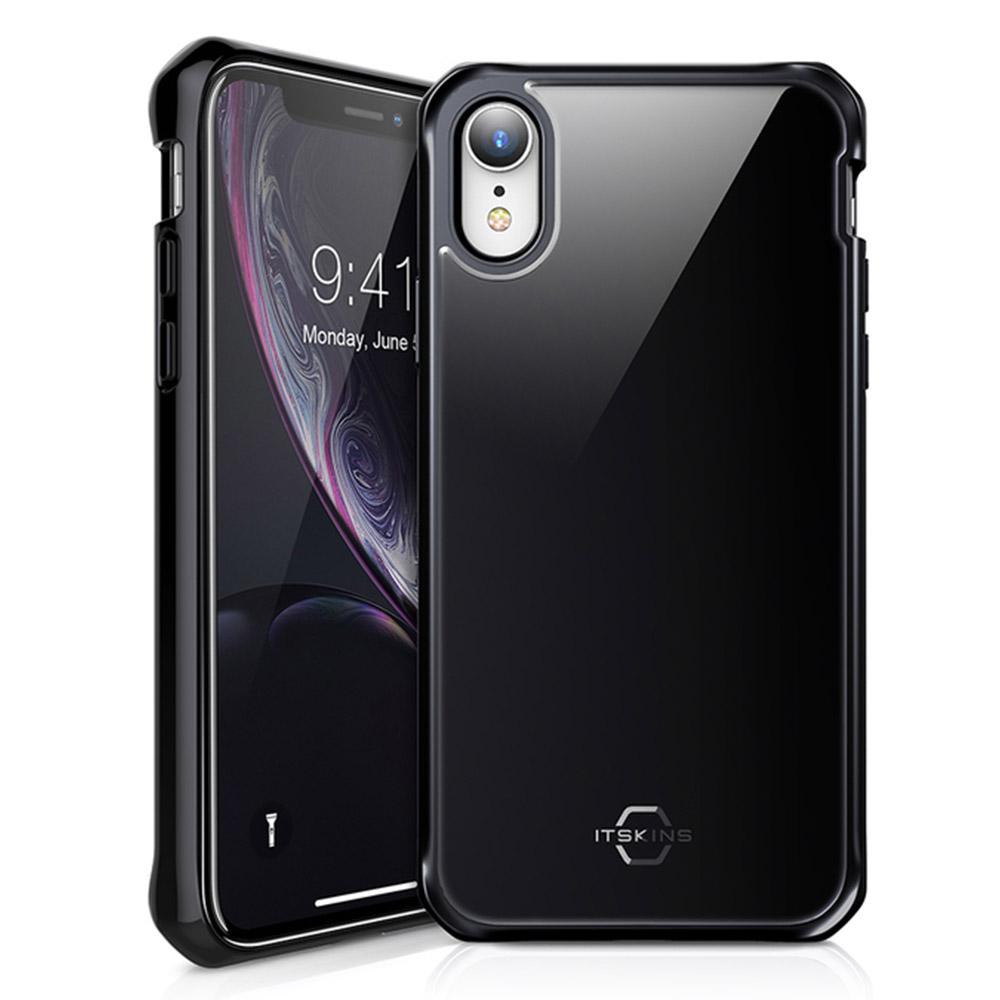 Wholesale cell phone accessory ITSKINS - Hybrid Glass Iridium Case for Apple iPhone XR - Black