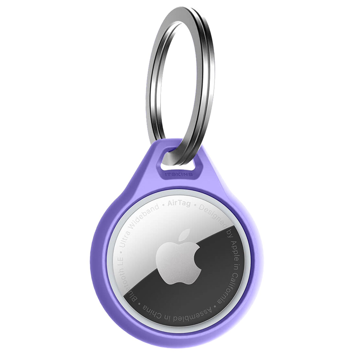 Wholesale cell phone accessory ITSKINS - Air Solid Cover Keychain for Apple AirTag - Light