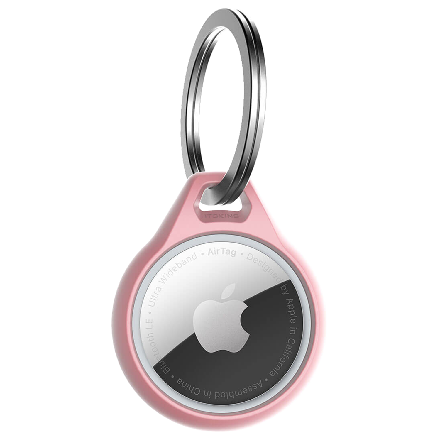 ITSKINS - Air Solid Cover Keychain for Apple AirTag - Light Pink