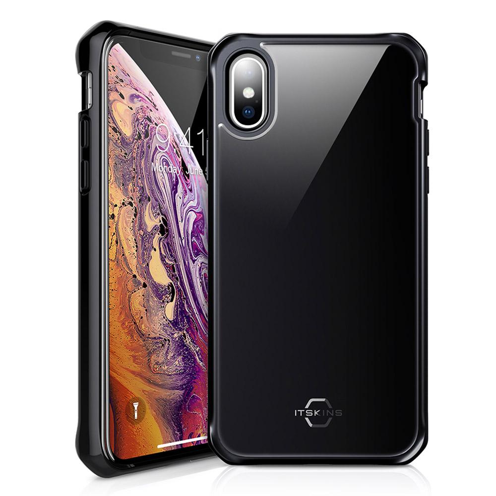ITSKINS - Hybrid Glass Iridium Case for Apple iPhone Xs  /  X - Black