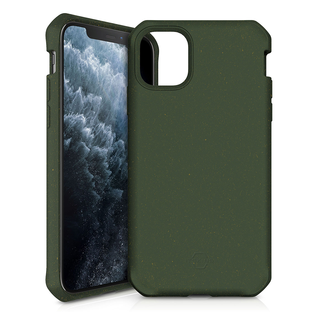 ITSKINS - FeroniaBio Biodegradable Case for Apple iPhone 11 Pro Max - Kaki
