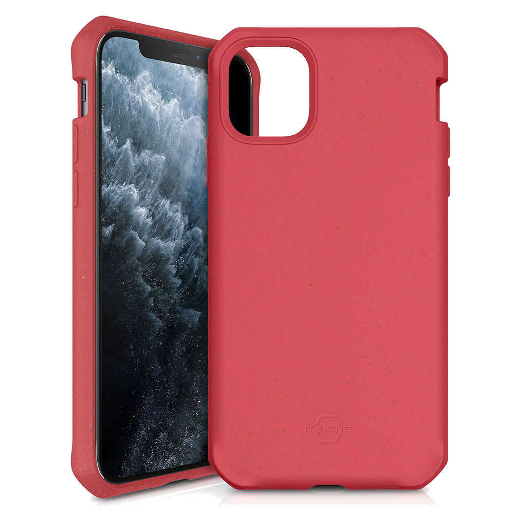 ITSKINS - FeroniaBio TERRA Biodegradable Case for Apple iPhone 11 Pro Max - Red