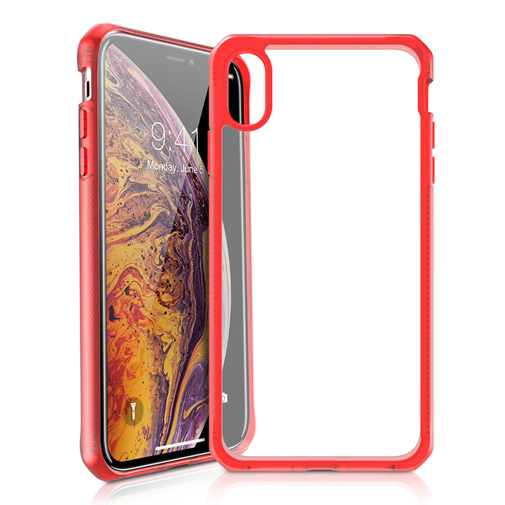 ITSKINS - Hybrid Frost MKII Case for Apple Xs Max - Red and Transparent