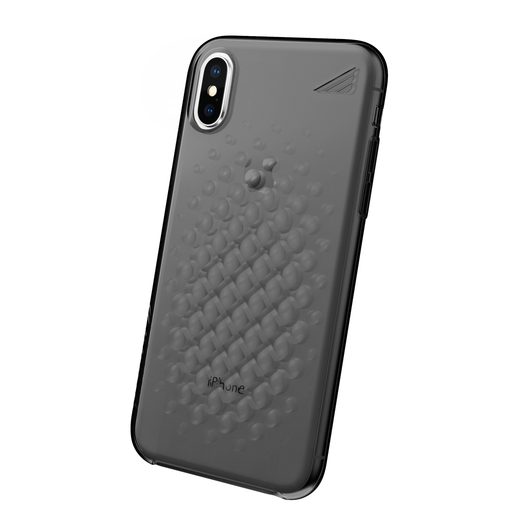 Wholesale cell phone accessory Brink - array Case for Apple iPhone Xs  /  X - Smoke