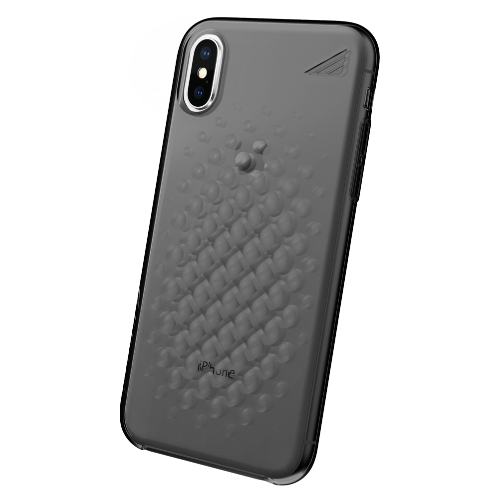 Wholesale cell phone accessory Brink - array Case for Apple iPhone Xs Max - Smoke