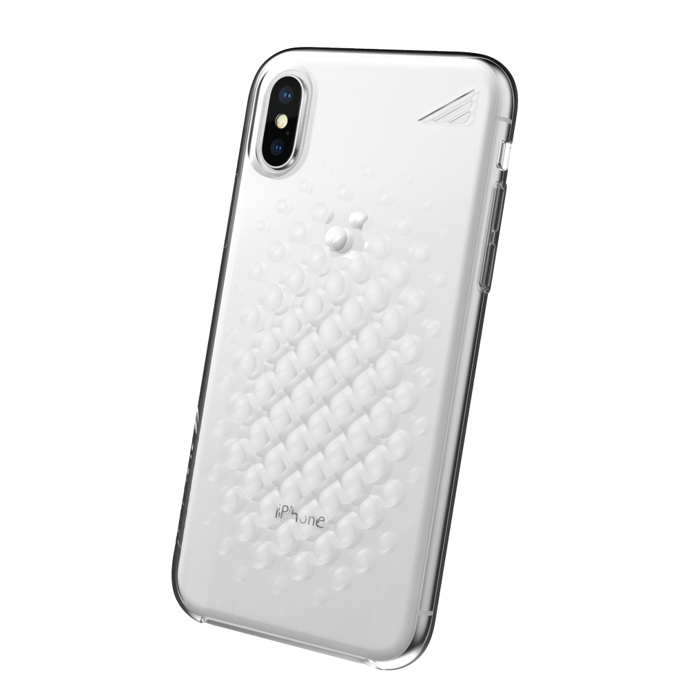 Wholesale cell phone accessory Brink - array Case for Apple iPhone Xs  /  X - Clear