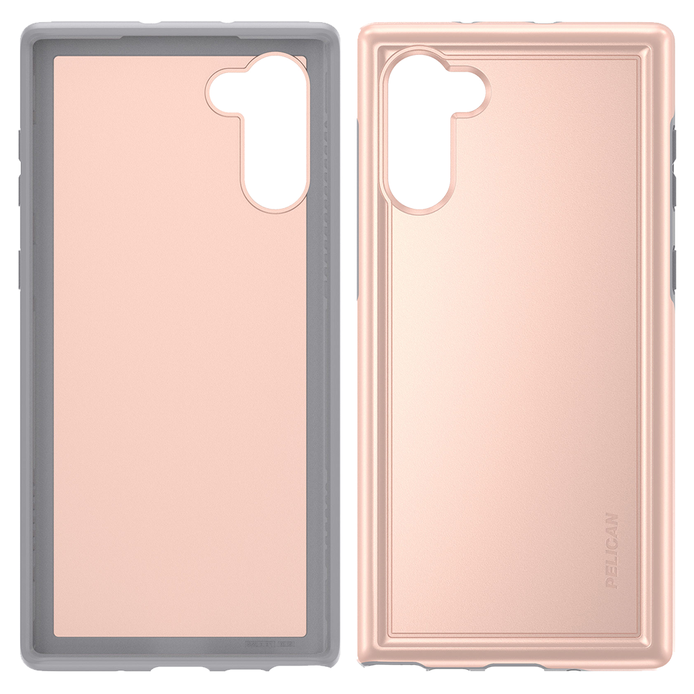 Pelican - Adventurer Case for Samsung Galaxy Note 10 - Metallic Rose Gold and Gray