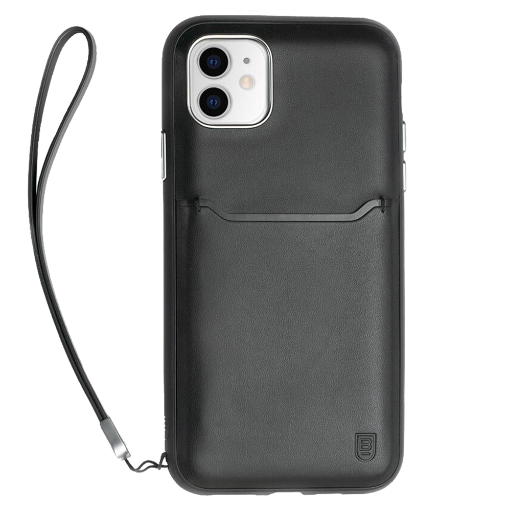 Wholesale cell phone accessory BodyGuardz - Accent Wallet Case for Apple iPhone 11 - Black