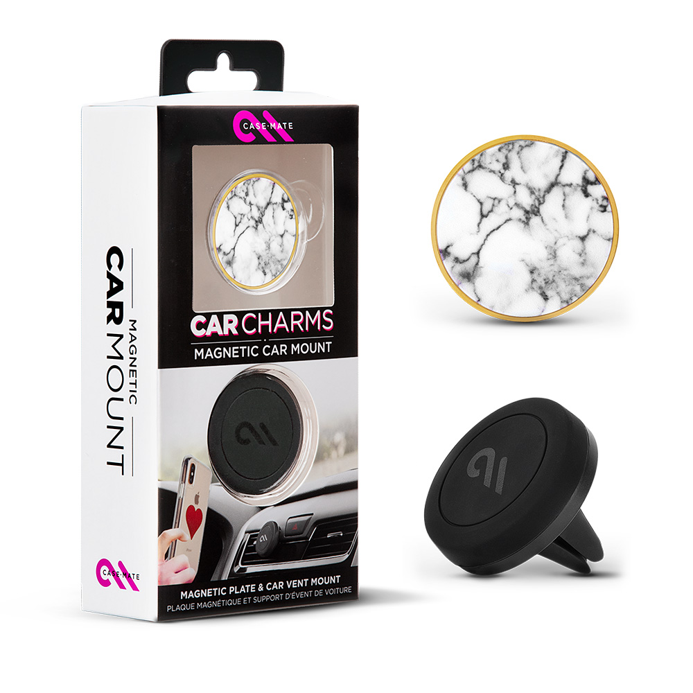 Wholesale cell phone accessory Case-Mate - Car Charms Magnetic Vent Mount Kit - White Marble