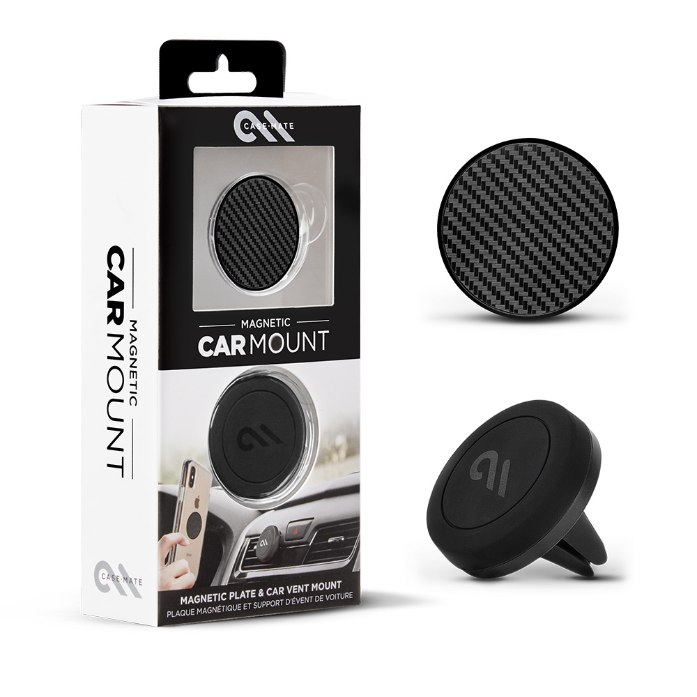 Wholesale cell phone accessory Case-Mate - Car Charms Magnetic Vent Mount Kit - Carbon Fiber