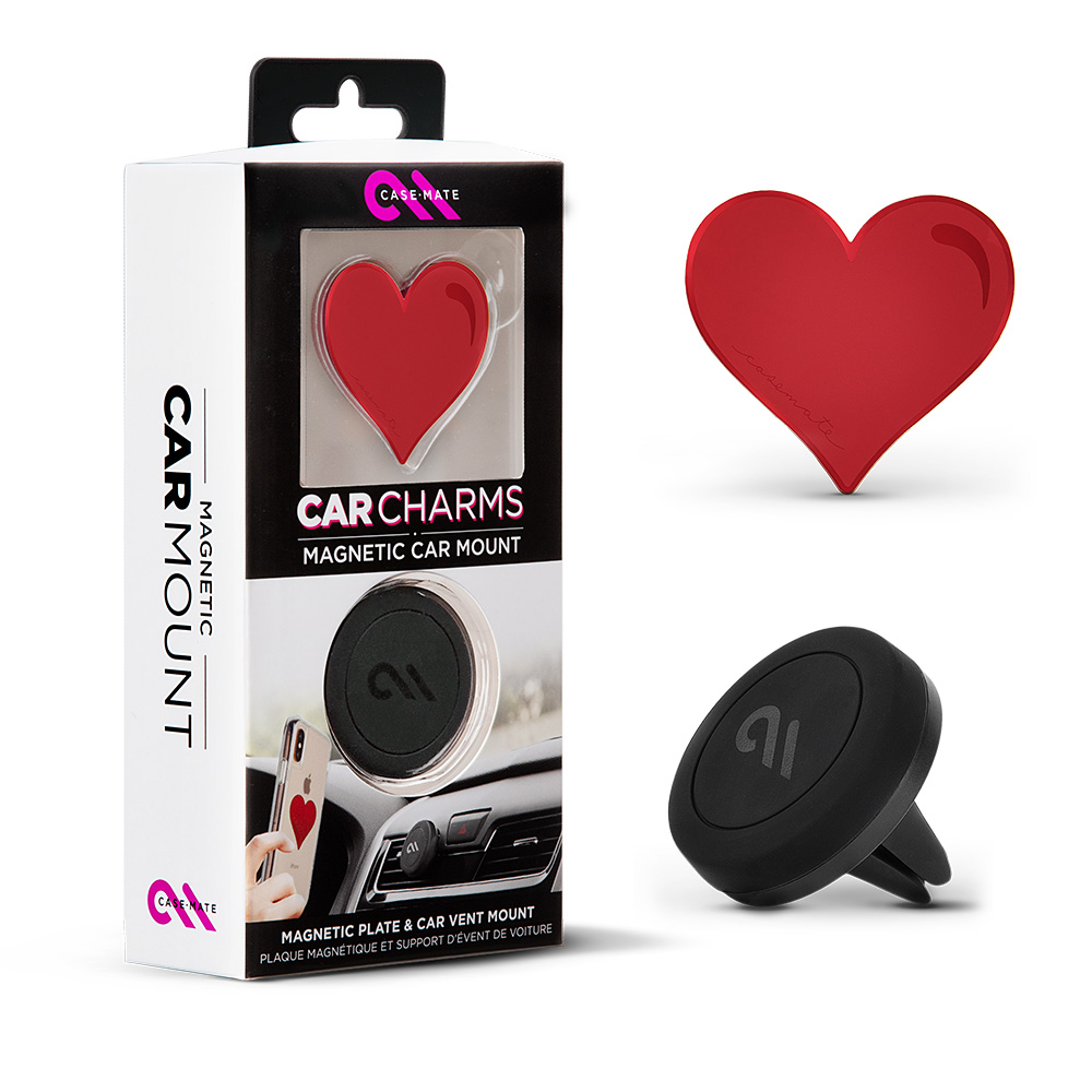Wholesale cell phone accessory Case-Mate - Car Charms Magnetic Vent Mount Kit - Red Heart