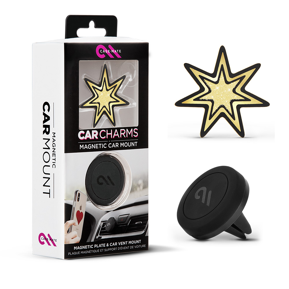 Wholesale cell phone accessory Case-Mate - Car Charms Magnetic Vent Mount Kit - Gold Starburst