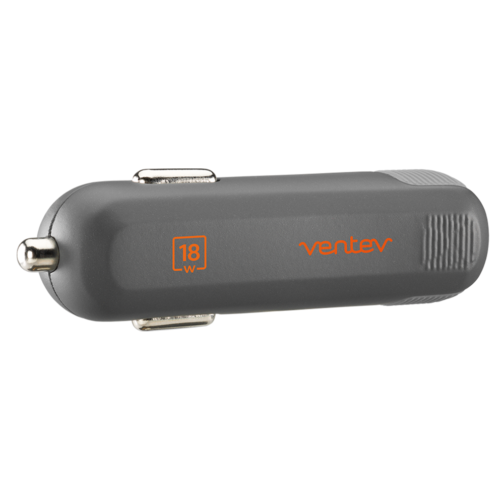 Wholesale cell phone accessory Ventev - PD 18W dashport pd1180 USB C Car Charger - Gray