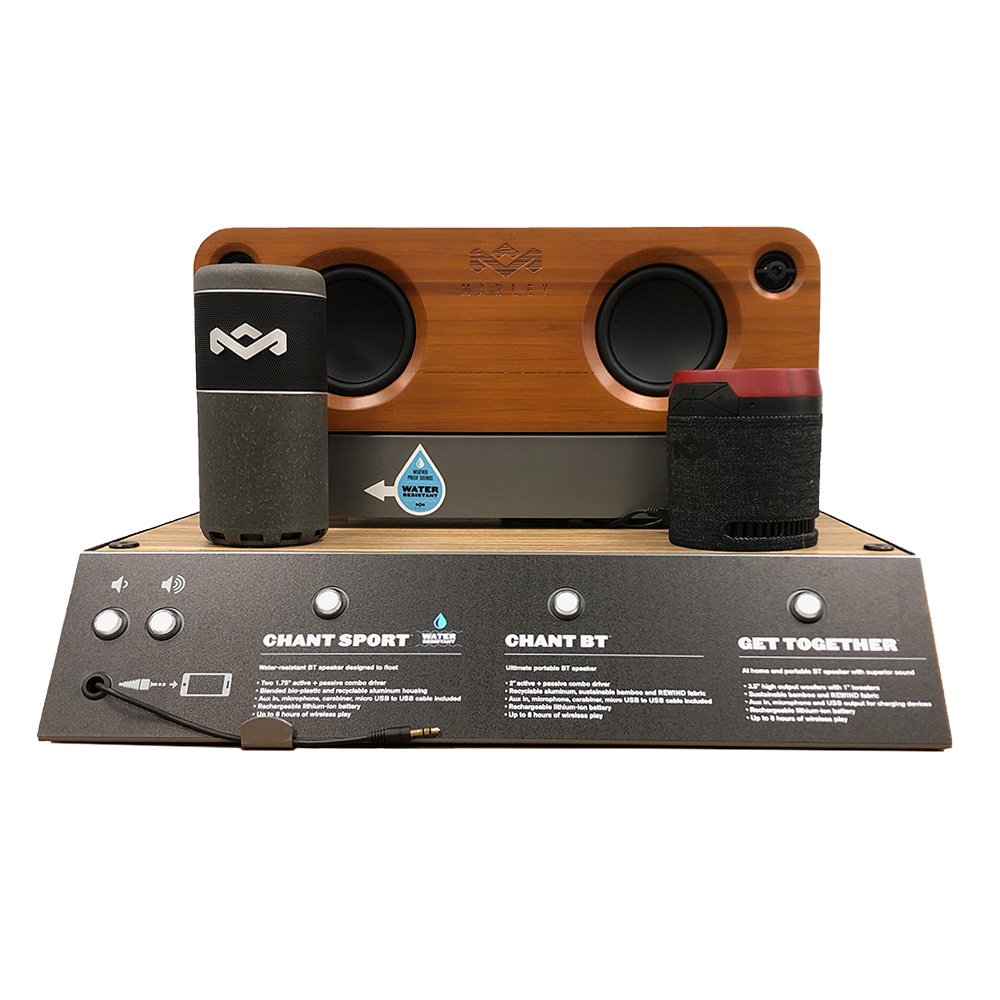 Wholesale cell phone accessory House of Marley - 18in Portal Bluetooth Countertop Display