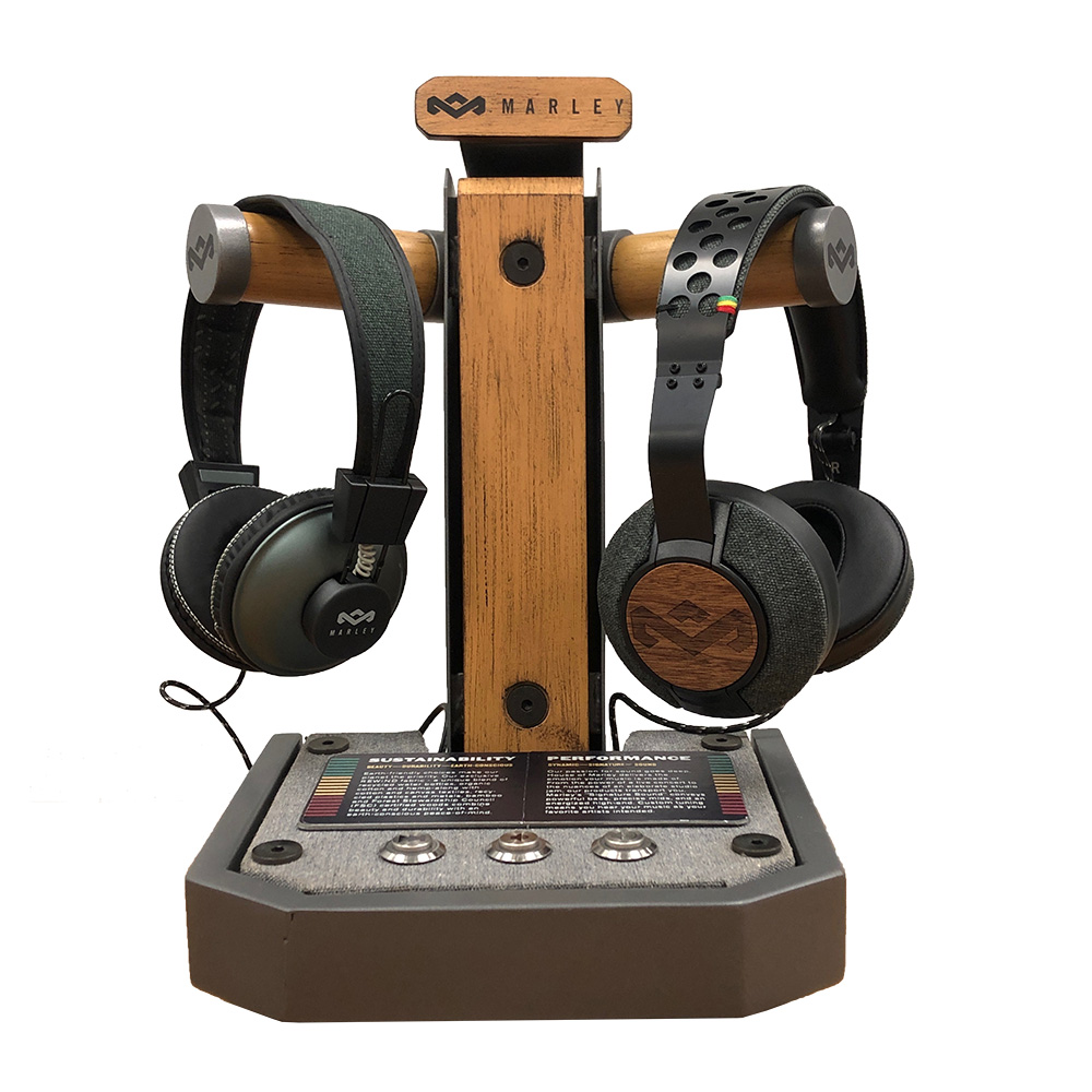 Wholesale cell phone accessory House of Marley - Double Active Headphone Counter Display