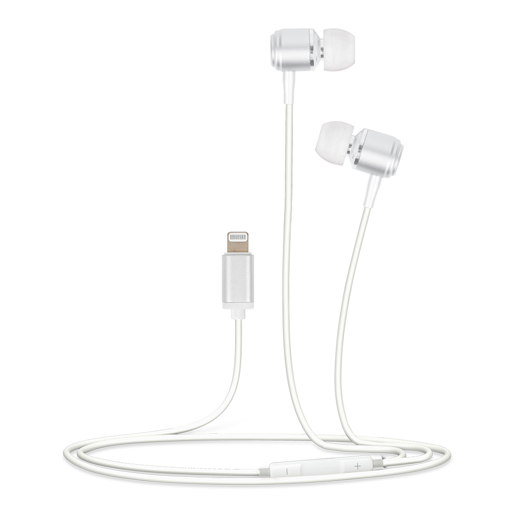 Helix - In Ear Wired Headphones for Apple Lightning Devices - White