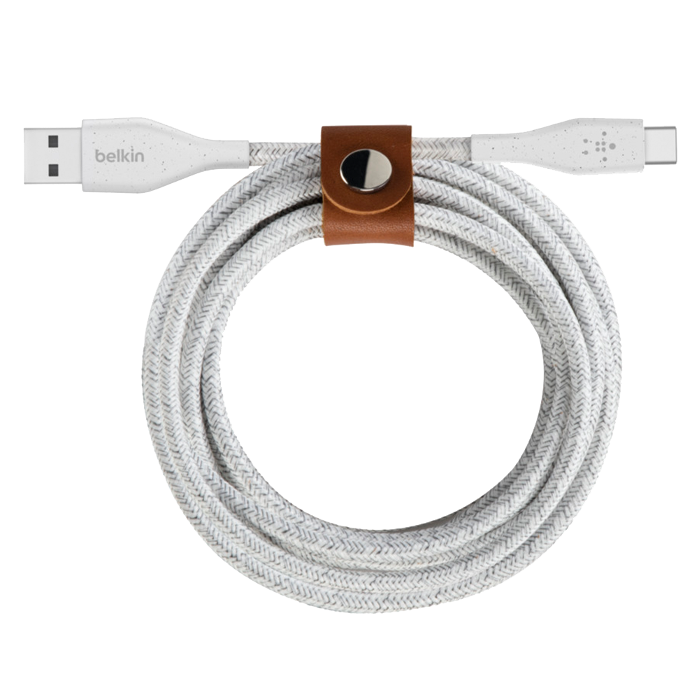 Wholesale cell phone accessory Belkin - DuraTek Plus Type A to Type C Cable 10ft - White