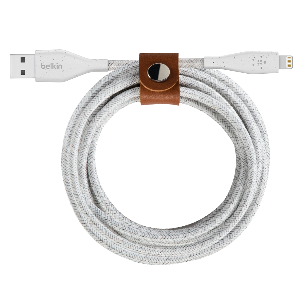 Wholesale cell phone accessory Belkin - DuraTek Plus Apple Lightning Cable 10ft - White
