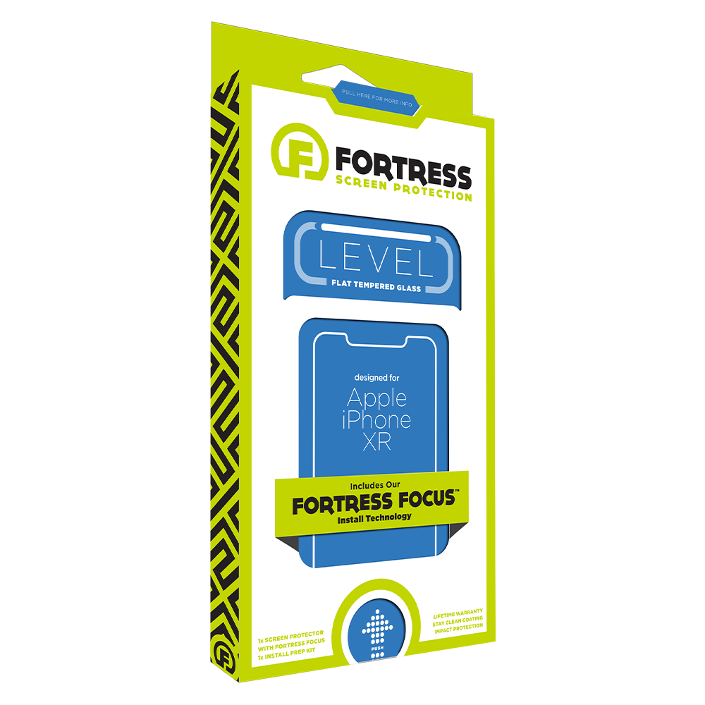 Wholesale cell phone accessory Fortress - Level Glass Screen Protector for Apple iPhone XR -