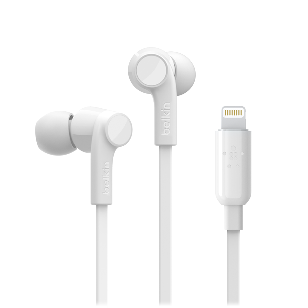 Wholesale cell phone accessory Belkin - Soundform Apple Lightning In Ear Headphones - White