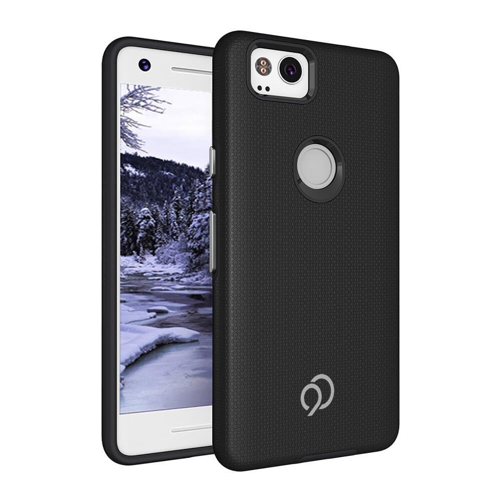 Wholesale cell phone accessory GOOGLE PIXEL 2 NIMBUS9 LATITUDE TEXTURED CASE - BLACK