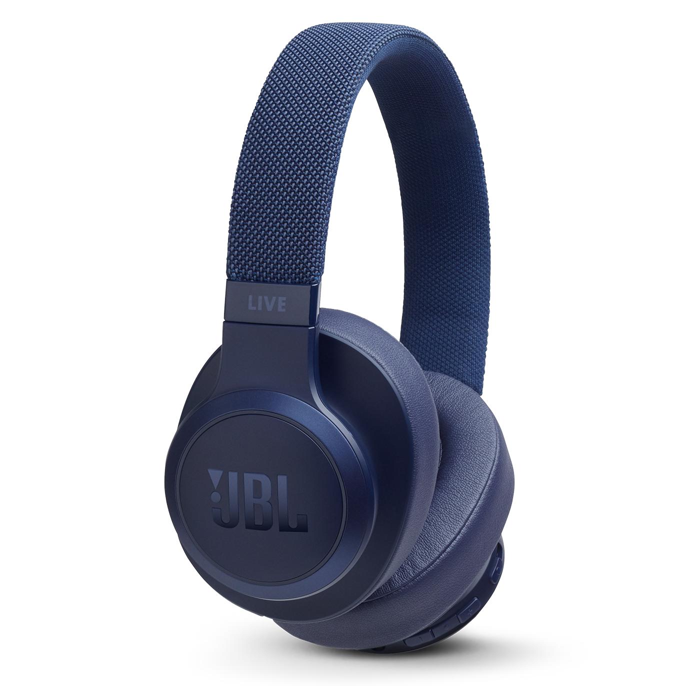 JBL - LIVE 500BT Over Ear Bluetooth Headphones - Blue